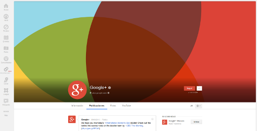 cambios en google+