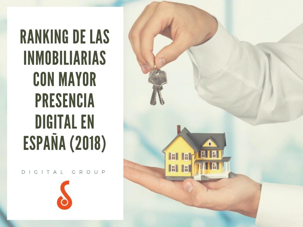 ranking inmobiliarias presencia digital España